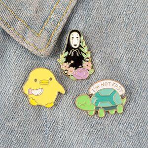 dYOM0 kreative Karikatur hot-Verkauf Brosche neue nette Tier kleine Schildkröte Huhn gesichtslos Junge Brosche Schildkröte Schildkröte