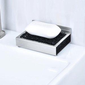 Shower Soap Dish Titular de armazenamento de aço inoxidável Soapbox Escorra Bandeja Container