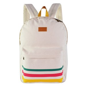 College Wind Elementary and Middle School Student Schoolbag Outdoor Travel Wear-resistant Backpack Printed Canvas Backpack