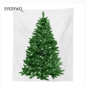 poliéster transporte tapete pano parede do dormitório decoração de suspensão da árvore de Natal tapeçaria de parede cobertor queda