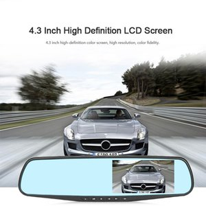 4   4.3 Inch Mirror 1080P Car DVR Streaming Media Super Night Vision Key Type Car Camera Driving Recorder Parking Mode Recorder