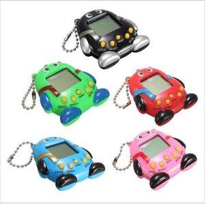 Ring Children Toy Baby Puzzle 168 Pets Consoles Keychain Qq E-pet Machine Pet Game Key Penguin Pendant Electronic whole2019 HjrEg