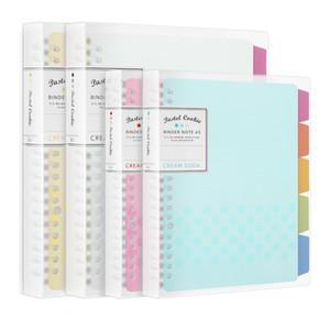 Jianwu Japón Kokuyo Macaron del cuaderno de las hojas intercambiables núcleo interno A5 B5 diario del cuaderno de Plan de carpeta de la escuela para oficina Carpeta de anillas T8190701
