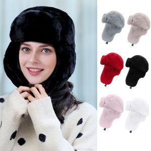 casual de invierno cálido orejeras orejeras sombrero de punto de lana suave ribete del engrosamiento del sombrero del casquillo de esquí de alta calidad 10.14