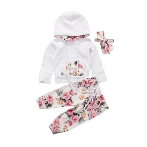 Clothing Sets Pudcoco 3PCS Set Hooded Print Toddler Baby Girl Clothes Casual Cotton Long Sleeve Tops +Floral Pants Outfits 6-24 Months