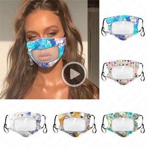 Mode Adult Fa Mask Cotton dünne Breathable Transparent Staubdichtes Schutzmasken Waschbar Fa Maske 5 Farben D62315