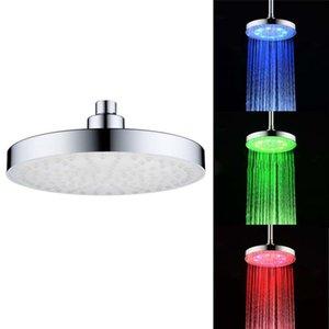 Cgjxs 8-Zoll-Sonderfarbe Top Dusche Spray Abs Runde Led Top-Spray-Dusche-Kopf-bunte Lichter Dusche Top Q0511 Spray