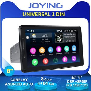 "8""Universal Android Car Radio Stereo Single 1 Din 4GB +64GB 1280*720 DSP 4G Modem Wireless Carplay Head Unit GPS No DVD Player car dvd"