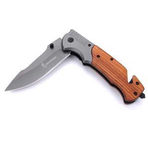Wholesale Browning DA309 folding knife tactical camping EDC tool pocket knife survival knife outdoor cutting tools color box free shipping