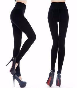 Warm Women's Plus Velvet Winter Leggings Ankle-Length Keep Warm Solid Pants High Waist Carry Buttock Large Size Women Leggings Y045