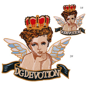 New Arrival Angel Embroidery Patches Applique Sew On Clothing Or Bags Sewing Supplies Decorative Patches 6PCS LOT EP032