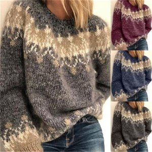 Winter Autumn Women Sweater Fashion O Neck Long Sleeve Loose Knits Pullover Sweater Woman Designers Clothes 2020
