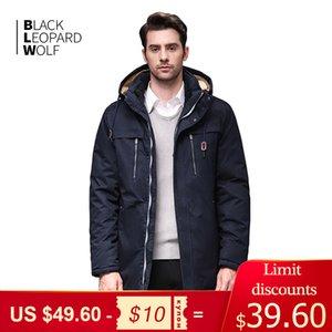Blackleopardwolf kış ceket erkek moda ceket thik parka erkekler alaska Ayrılabilir Rahat Manşet 200.922 ile paltoları
