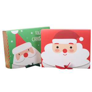 Christmas Paper Gift Box Cartoon Santa Claus Gift Packaging Boxes Christmas Party Favor Box Bag Kid Candy Box Xmas Party Supplies DHC1773