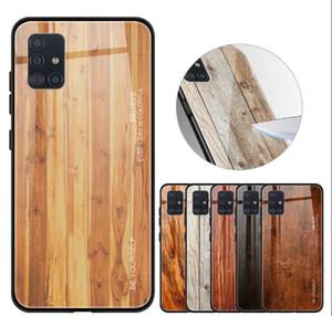 Temperli cam Ağaç Damarı Vaka İçin Samsung Galaxy S20 FE 5G S10E S10 PLUS S9 A30, A20, A50 A70 A80 A10S A20S Not 10 PRO 9 Bling Telefon Kapak