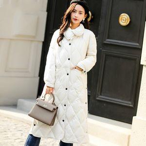 Down Thick White Duck Jacket Coats Ladies Fashion Long Jackets Winter Womens Coat Parka Campera Mujer KJ556
