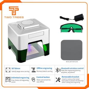 98x88mm Mini Bluetooth Laser 2500mW CNC Graviermaschine 2Axis 3D-Drucker DIY Desktop-Holz Router / Cutter / Laserschutzbrillen Geschenk