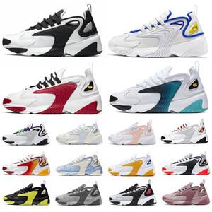 Nike Air Zoom 2K M2k Tekno Üçlü siyah Yakınlaştırma Koşu Ayakkabıları erkekler kadınlar için mavi gri Mor Beyaz Siyah Kremalı Beyaz erkek Eğitmen kadın Sneakers Spor M2K ayakkabı