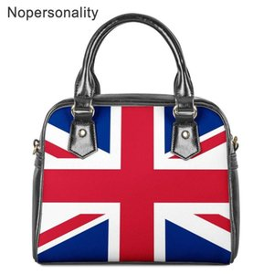 Nopersonality US UK Flag Printed Teen Girl Shoulder Bags Women PU Leather Tote Handbags Waterproof Crossbody Bag for Female