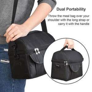 Outdoor Bags Strong 3 Color Oxford Cloth Lunch Box Travel Ice Bag Insulated Cooler Handbag Heat Preservation Insulation