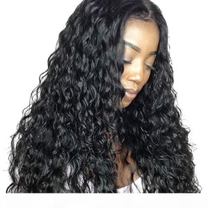 HD Full Lace Wig Human Hair Curly Virgin Peruvian Hair Water Wave 13X4 Frontal Transparent Lace Front Wigs For Black Women