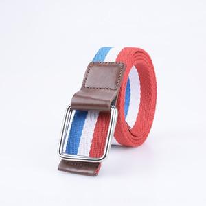 En ligne nouvelle et wo tissé occasionnels multi-couleurs canvasoptional 8003 nouveaux hommes en ligne et des femmes tissé ceinture de toile de ceinture casual multicolore toile
