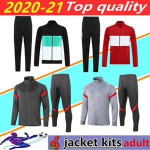 20/21 Veste de survêtement de football Liverpool Hommes 2020 2021 Vestes de survêtement liverpool soccer tracksuit jacket survetement de foot