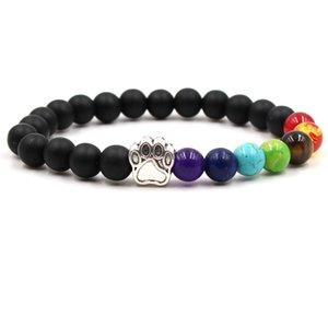 New Pet Dog Beads Bracelets Women Men Classic Colorful Natural Stone Elastic Friendship Charm Bracelet Unisex Trendy Jewelry
