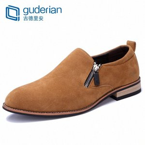 GUDERIAN Classic Men Shoes Oxford Genuine Leather Loafers Men Shoes Slip On Breathable Casual Flat Zapatos De Vestir oXkv#