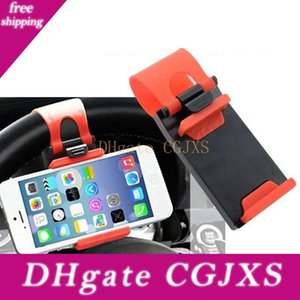 Universal Car Steering Wheel Cradle Cellphone Holder Clip Car Bike Mount Stand Flexible Phone Holder Extend