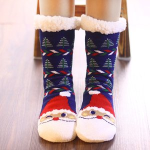 HOT 9style Christmas decoration family floor socks adult winter indoor antiskid warm socks thickened wool shoes and socks T500273