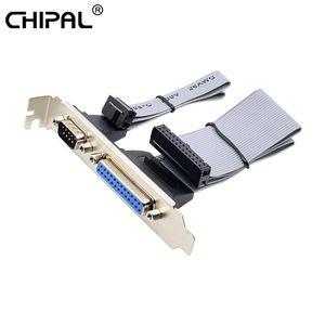 Per PCI Slot Header seriale DB9 pin con parallelo DB25 pin del cavo 28,5 centimetri con staffa per LPT parallela stampante seriale COM