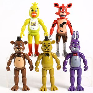 FNAF Five Nights At Freddy's Freddy Bonnie Chica Foxy PVC Action Figures Collectible Toys for Kids 5pcs set Dhl