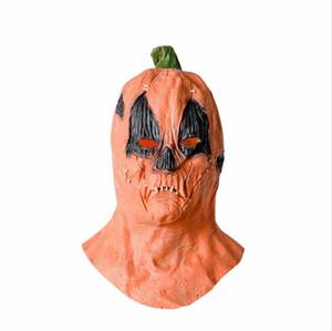 2020 Máscaras calabaza de Halloween Cosplay Mascarilla facial diseñadores unisex terror máscara de miedo cubierta Hombres Mujeres Festival de látex Material Juguetes LY9273