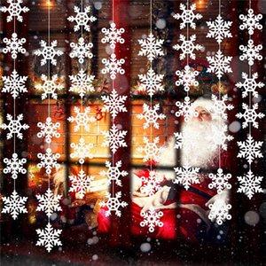 Snowflake Hanging Ornamente weiße Schneeflocke Garland Weihnachtsschneeflocke Banner Dekorationen Märchenland Ornamente Winter gefrorener-Geburtstags-Party