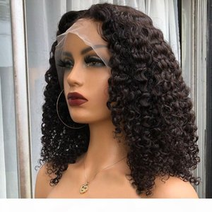 Deep Part 13x6 Lace Front Human Hair Wigs Kinky Curly for Women Peruvian Full Lace Wigs Pre Plucked Natural Hairline Curl 360 Frontal