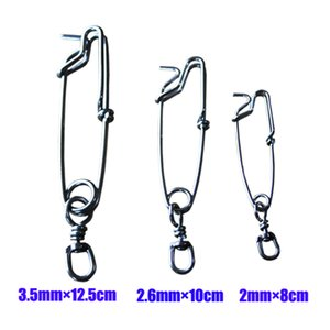 Long Line Fishing Tuna Clips Stainless Steel Clip Branch Hangers with Crane Swivel Duo Lock Snaps