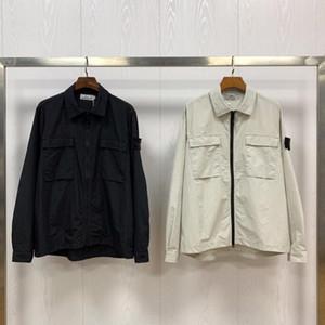 GHOST PEZZO overshirt Cotone Nylon TELA TOPST0NEY lavoro di modo cappotto del rivestimento della camicia uomini donne dell'isola giacche pietra Mens manica a vento lungo