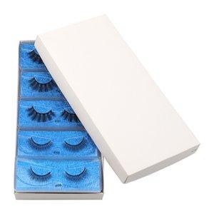100 paires 10styles 1 ~ 15mm cils 3D Vison Cils Faux Cils Croisillon naturel Faux cils Maquillage 3D Mink Lashes DHL gratuit