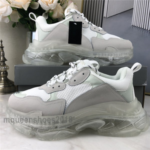 Parigi Cancella Sole pattini casuali di cristallo Triple Bottom-S tempo libero papà scarpe da tennis della piattaforma Triple S Sneakers per Uomo Donna Chaussures Trainer