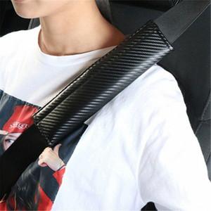2X Car Styling Seat Belt Shoulder Pad Carbon Fiber Comfortable Seat Belt Cover Pad Car Protective Cover Shoulder Strap Pads yKEm#