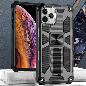 Rüstung Telefon-Kasten für iphone12 12pro 12proMAX 12max 11 11Pro 11PROMAX 2in1 PC TPU mit Standplatz 4 Ecken Stoßmetall Patch-Drop-Schutz