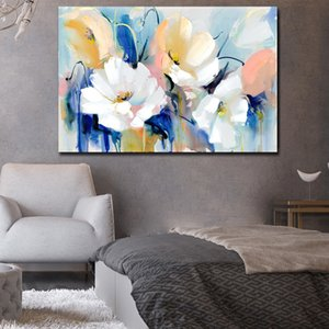 Watercolor Floral Flower Modern Minimalist Alpine Oil Painting on Canvas Posters Print Cuadros Wall Art Pictures For Living Room