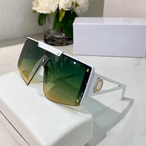 5188 gafas de sol de diseño para las mujeres de la manera popular gafas de sol de protección UV lente grande de conexión sin marco de calidad superior viene con el paquete