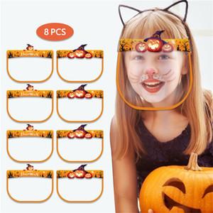 Enfants Transparent Clear Shield face plastique Masques de protection Integral visibles Masques lecture labiale Pare-soleil de Noël Halloween Vente E9903