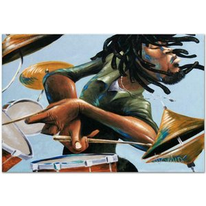 David Garibaldi Dreads And Drums Home Decor Handpainted &HD Print Oil Painting On Canvas Wall Art Canvas Pictures 7182
