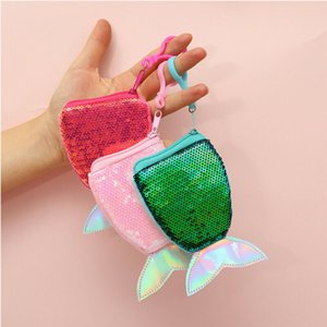 Women Kids Girl Sequins Mermaid Tail Coin Purse Mini Wallet Clutch Bags Holder Handbag Storage Birthday Christmas Gift