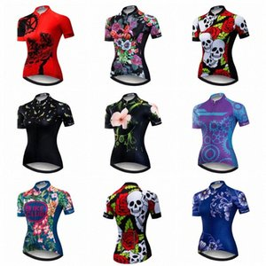 2020 2020 Cycling Jersey Women Mtb Mountain Bike Shirt Red Breathable Ropa Ciclismo Wear Cycling Clothes Sports Top Skull Summer Blue r1et#