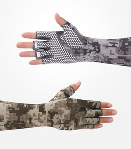 1 Pair Arm Sleeves Summer Sun UV Protection Ice Cool Cycling Running Fishing Climbing Driving Arm Cover Warmers for Men Outdoor