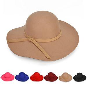 Fashion Women Hat Autumn And Winter Outdoor Big Brim Hat Casual Caps Wild Hats